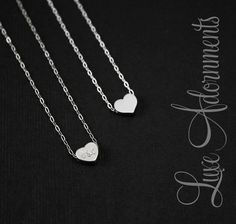 Heart Initial Necklace His and Her by LuxeAdornments, $34.00