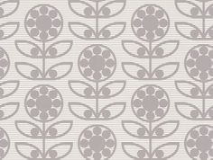 Dotty Flower  (LF1030) - Layla Faye Wallpapers - An all over wallpaper design featuring a stylised retro flower motif, with a fine striped background. Shown here in the swirly grey colourway. Other colourways are available. Please request a sample for a true colour match. Paste-the-wall product. Pattern repeat is 20cm, not as stated below.