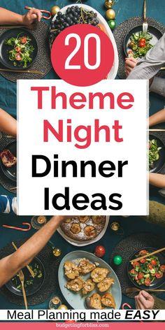 Sunday Night Dinner Ideas, Easy Group Dinner, Dinner On A Budget, Dinner Party Menu, Dinner Themes, Dinner Parties, Date Night Dinners, Date Night Recipes, Dinner Recipes