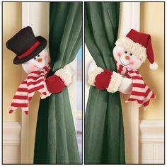 Set of 2 Frosty The Snowman Christmas Curtain Tie Back Decoration Frosty The Snowmen, Cute Snowman, Christmas Snowman, Christmas Crafts, Christmas Things, Skeleton Decorations, Tree Decorations, Christmas Decorations, Plastic Shop