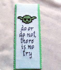 Star Wars YODA Do or Do Not Book Mark Cross Stitch Bookmark