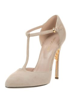 SERGIO ROSSI New Nude High Heel Pumps - I love T-Strap.