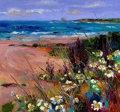Judith Bridgland | White Flowers among Sea Grasses, North Berwick http://www.duncanmiller.com/exhibitions/item/149/7856/white_flowers_amongst_sea_grasses_north_berwick