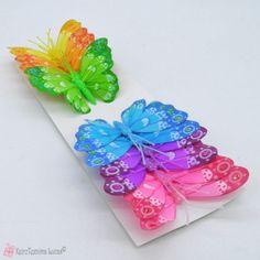 Πεταλούδες διακοσμητικές 8cm σετ12