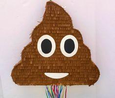 EMOJI POOP PINATA, Poop Emoticon party, whatssap emoji party, Pull String Piñata by TRUSTITI on Etsy