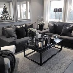44 Using Black And Grey Living Room Apartments Decor blackandgreylivingroom li Decoration homedecor homedesign homeideas