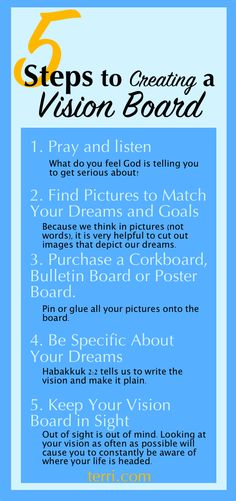 When the vision is clear, the results will appear. Clarity about your dreams is the single most important step to success! Have you been curious as to how to create a vision board or even what a vision board is?Here are 5 easy and practical steps to creat