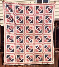 Antique Delectable Mountain Quilt 1800'S | eBay, whisper-hill