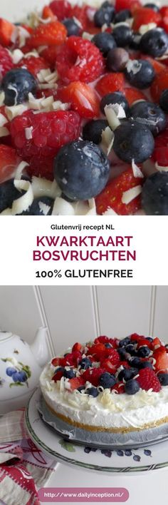 Opzoek naar een lekkere glutenvrij recept voor een kwarktaart? Dit recept is lekker en simpel. Leuk om te maken met kinderen. Glutenvrije kwarktaart met bosbessen! Mijn nieuwe favoriet!