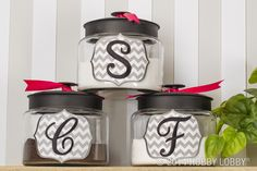 Sugar and spice and everything monogrammed! See our favorite kitchen customization ideas here.
