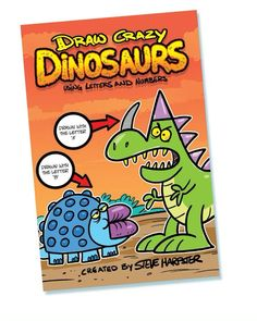 Learn how to draw fun cartoon dinosaurs by turning letters and numbers into art!