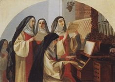 Nuns Convent of the Sacred Heart in Rome by Karl Bryullov