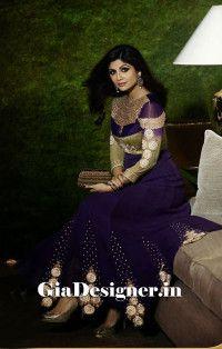 Shilpa Shetty Traditional Designer Anarkali Suits