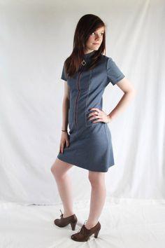 60s 70s Dress / Mod / Mini / Hipster / Red White by PetticoatsPlus, $32.00