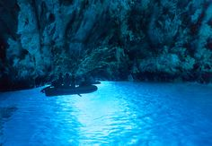 68. Hop on a raft to drift beside Croatia's Blue Cave of Bisevo, a naturally vivid grotto that is so bright in the sun it looks artificially illuminated. (paulprescott72 via Getty Images)  via @AOL_Lifestyle Read more: http://www.aol.com/article/lifestyle/2016/11/28/100-under-the-radar-places-everyone-should-visit-in-the-world/21592729/?a_dgi=aolshare_pinterest#fullscreen