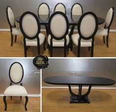Another amazing black and white dinning table