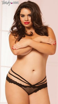 Riley Ticotin <3 Plus Size Sexy Strappy Panty, Plus Size Lacey Hot Underwear, Plus Size Intricate Thongs and G-Strings