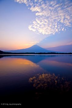 Sunrise Mt.Fuji JapanV reflection