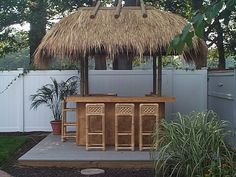 8' x 12' tiki bar kit with heavy weave bamboo plywood facings and solid bamboo trim constructed in New York