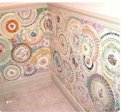 Tile to use with plate mosaic walls