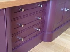 Farrow and Ball - Brinjal - in a different light. Could you live with this colour!!