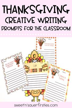 These creative Thanksgiving writing prompts are such a fun, festive addition to my elementary writing centers! My students love using the 4 engaging writing prompts to practice their creative, persuasive, and narrative writing skills! Try these ready-to-use writing prompts to incorporate Thanksgiving into your students' writing stations.