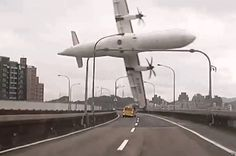 A TransAsia Airways plane clips a bridge as it crashes into river. TransAsia, killing at least 35. It had just taken off when one engine faulty fom Taipei airport