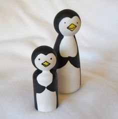 Penguin Peg Dolls Penguin Ornaments Penguin Toy by 2HeartsDesire Proudly Made With Our Hands
