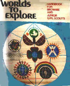 Worlds to Explore Brownie & Junior Girl Scout Handbook