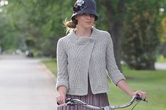 Pan Am Jacket, Ashley Rao, Interweave Knits Winter 2011 Knitting Daily, Knitting Blogs, Poncho Sweater, Jacket Pattern, Knit Or Crochet, Knitted Bags, Couture, Crochet Clothes, Knitting Patterns
