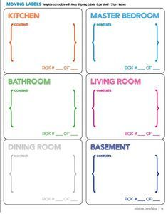 says moving labels shouldn't be pretty? Here are some free moving printables!Who says moving labels shouldn't be pretty? Here are some free moving printables! Moving Home, Moving Day, Moving Tips, Moving Hacks, Moving Binder, Moving Labels, Moving Across Country, Organizing For A Move, Houses