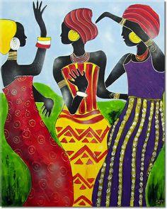 peinture femmes africaines http://www.peintures-sur-toile.com/peinture-africaine-xsl-416.html