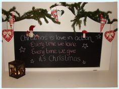 Chalkboard in hallway Christmas Home, Our Love, Letter Board, Chalkboard, Lettering, Home Decor, Decoration Home, Room Decor, Chalkboards