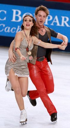 f28f2c63993 Nathalie Pechalat and Fabian Bourzat of France golden at Trophee Eric  Bompard Golden Skate