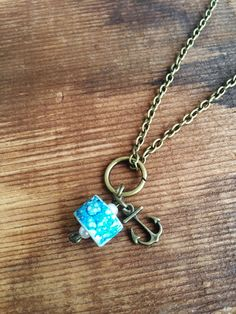 A personal favorite from my Etsy shop https://www.etsy.com/listing/248022875/upcycled-long-charm-necklace-anchor