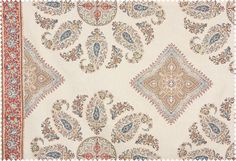 This colorway? orange in it but brings pther colors like blueTextile Details: Samarkand | Peter Dunham Textiles