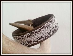 Lapland Sami Bracelet Reindeer leather Custom made by liten82, $75.00
