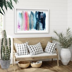 Spruce up your room with a pop of color. Get inspired to make your space your own with fashionable wall art from Oliver Gal #roominspo #homedecor #artgallery Modern Wall Decor, Oliver Gal, Blue Abstract, Modern Prints, Your Space, Color Pop, Contemporary Art, Art Gallery, Throw Pillows