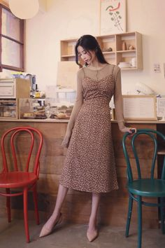 Modest Summer Outfits, Modest Dresses Casual, Classy Outfits, Korean Girl Fashion, Asian Fashion, Modest Fashion, Fashion Outfits, Instagram, Feminine