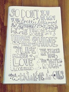 People throw rocks at things that shine but they can't take what's ours, they can't take what's Ours. :)