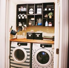 have no idea how these appliances were decorated. Paint? Stickers? What? Love them. Both photos are DIY ideas from.....drumroll.......HOME D...