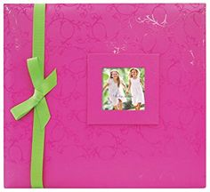 MBI Embossed Gloss Brights 13.2×12.5 Inch Scrapbook with 12×12 Inch Pages, Pink (866920) Review