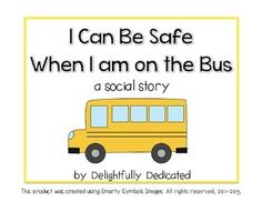 riding the bus social story printable Personal Space Social Story, School Bus Safety, Social Stories Autism, Special Education, Physical Education, Stories For Kids, Life Skills, Social Studies, New Baby Products