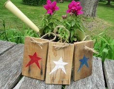 Patriotic Red White and Blue Reclaimed Wood by Homestead1863,