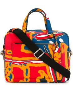 COACH Graphic Print Briefcase. #coach #bags #shoulder bags #hand bags #leather