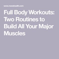 Full Body Workouts: Two Routines to Build All Your Major Muscles