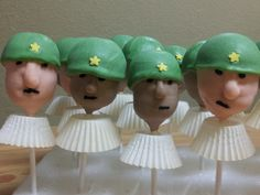 My Army Soldiers cake pops!