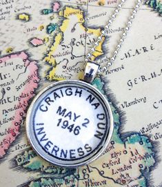 Outlander Necklace Craigh na Dun Inverness Scotland by CrowBiz