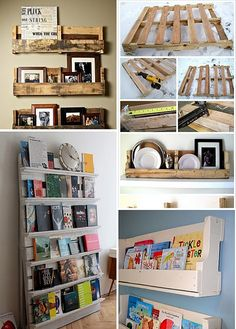 Bookcase and Shelves All Made From Pallets -- Good Ideas
