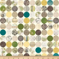 Riley Blake Trail Mix Hollow Cream from @fabricdotcom  Designed by Bo Bunny for Riley Blake, this cotton print is perfect for quilting, apparel and home decor accents.  Colors include cream, shades of green, shades of mustard gold, shades of green, shades of grey, shades of rust and shades of blue.